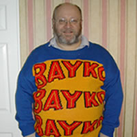 Picture of me in<br>my BAYKO jumper.