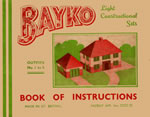 Front cover of the earliest BAYKO manual - click here for the manual