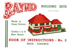 Front cover of the Sets 1 to 6 BAYKO Manual, dating from 1939 to 1940 - click here for the full manual