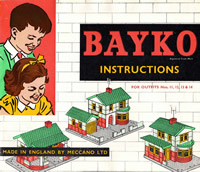 Front cover of the last full BAYKO manual, date coded April, 1962
