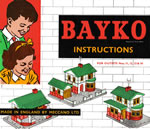 Front cover of the second full BAYKO manual of the MECCANO era, date coded April, 1962 - click here for the full manual