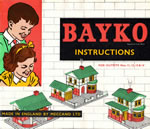 Front cover of the penultimate full BAYKO manual of the MECCANO era, date coded April, 1962 - click here for the full manual